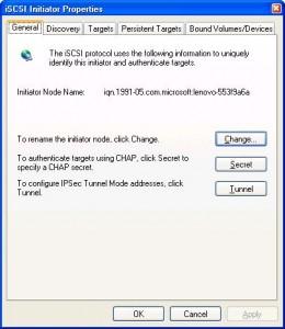 iSCSI Initiator Windows XP